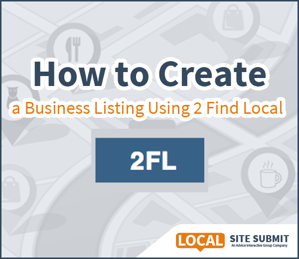 how to create a listing on 2 find local