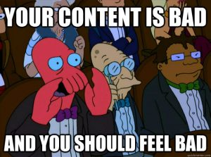 Are you putting your blog content on a site where it's not appropriate?