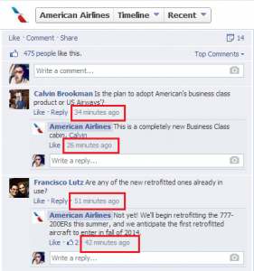 American Airlines Facebook