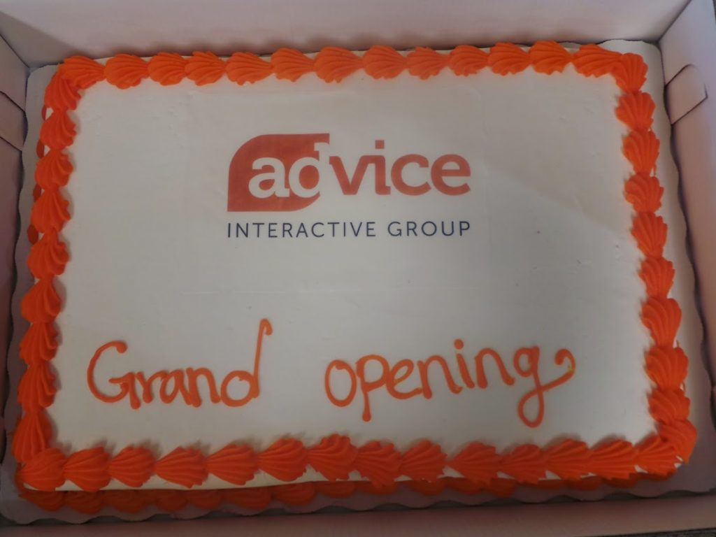 Advice Grand Opening Cake