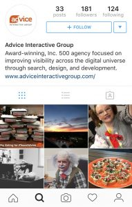 Advice-Interactive-Instagram-profile