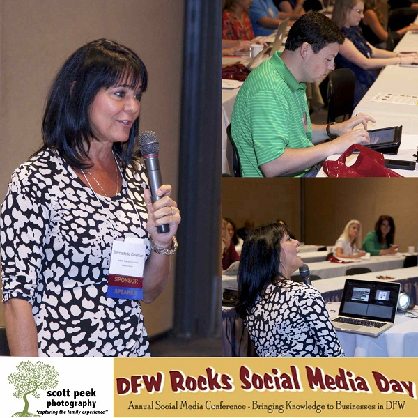 Bernie Coleman speaks at DFW Rocks Social Media