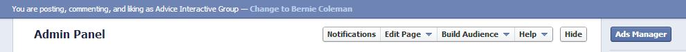 Facebook Admin Controls