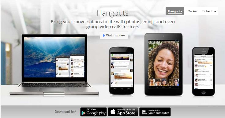 Google hangout banner