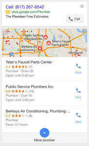 Google 3-Pack Results in Mobile Search