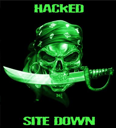 hacked site down