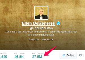 Ellen DeGeneres Twitter Profile